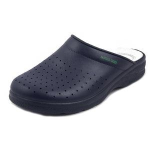 Ciabatta Pantofola Uomo Sanitaria da Lavoro in Pelle Blu, Sanital Light 754
