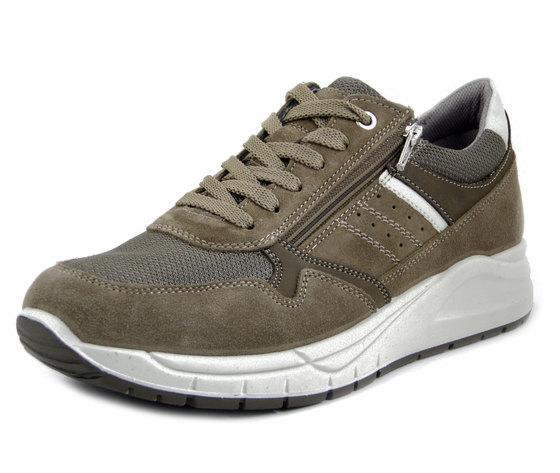 IMAC, Scarpe Uomo Sneaker in Pelle Camoscio Beige con Cerniera, Sottopiede Estraibile, 702210