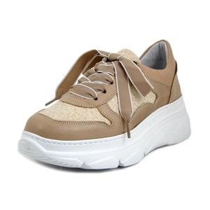 Osvaldo Pericoli, Sneakers Donna in Pelle Rosa Cipria, Pianta Comoda, Plantare Estraibile, Made in Italy, 21700