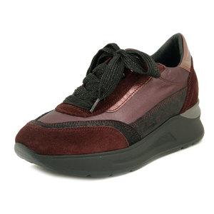 Osvaldo Pericoli, Sneakers Donna Rosso Bordeaux, Zeppa Bassa 4 cm, Pianta Comoda, Plantare Estraibile, Made in Italy 21230