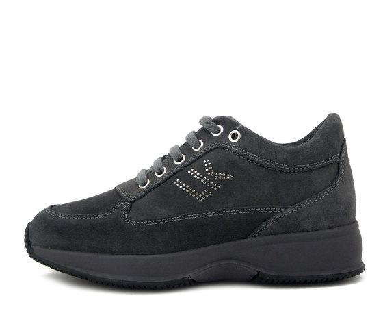 Lumberjack, Sneaker Donna in Pelle Camoscio Grigio, Zeppa interna e Plantare Estraibile, RAUL 01305