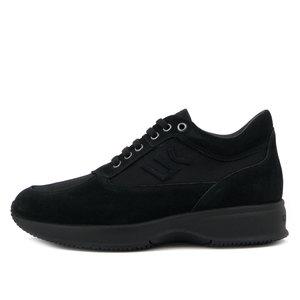 Lumberjack, Scarpa Uomo Casual Sneaker in Pelle e Tessuto Nero, Plantare Estraibile, RAUL 01305