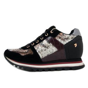 GIOSEPPO, Sneaker Donna in Pelle ed Eco Pelle Multicolore Animalier, Zeppa Interna, 60454