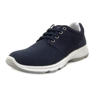 New Gisab, Scarpe Uomo Sportive Sneaker in Pelle e Tessuto Blu, Sottopiede Estraibile, 920
