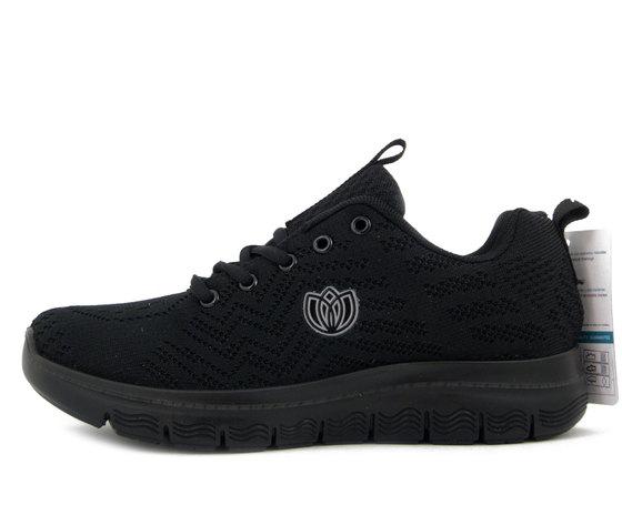 Laura Azaña, Scarpe Donna da Ginnastica Sneaker in Tessuto Nero, Plantare Memory Estraibile, 24503