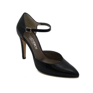 Sandalo Osvaldo Pericoli con laccio e fibbia regolabile , in morbida pelle con tacco 10cm. , 672-Estivo