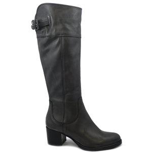 Osvaldo Pericoli, Stivali Donna al ginocchio in Pelle Grigio, Tacco Medio 5 cm, TS0011