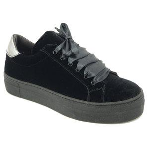 Osvaldo Pericoli, sneaker in pelle e velluto nero, sottopiede estraibile, 05Sneaker i16