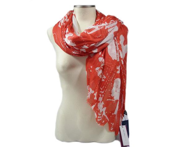 MILA SCHON Stola, misure 100X180CM., colore rosso/bianco, 100% COTONE, B7559S4 E17