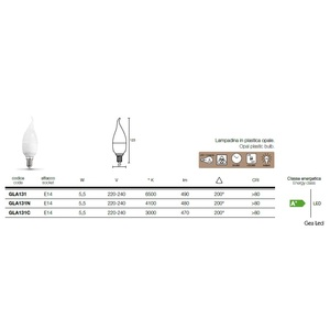 gea luce lampada LED GLA131