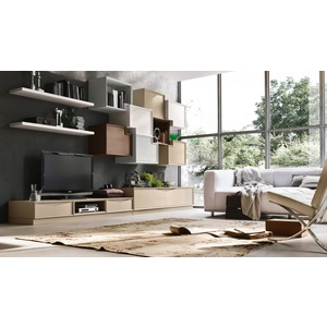 Accademia del mobile parete attrezzata, soggiorno, collezione infinity giorno, composizione 0004
