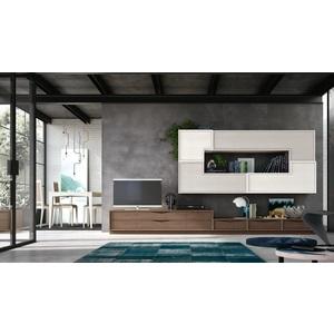 Accademia del mobile parete attrezzata, soggiorno, collezione infinity giorno, composizione 0040