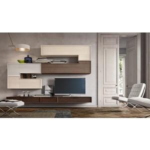 Accademia del mobile parete attrezzata, soggiorno, collezione infinity giorno, composizione 0042