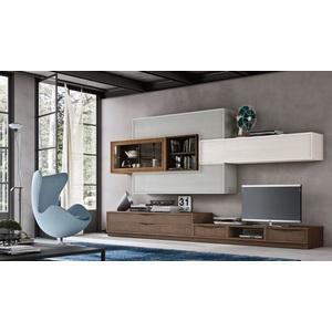 Accademia del mobile parete attrezzata, soggiorno, collezione infinity giorno, composizione 0043