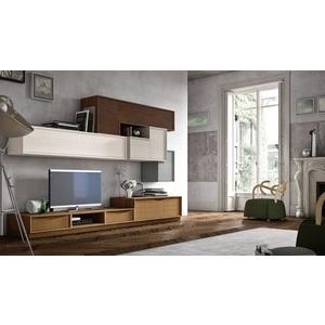 Accademia del mobile parete attrezzata, soggiorno, collezione infinity giorno, composizione 0044