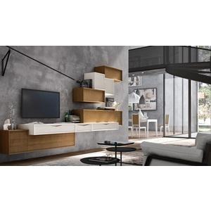 Accademia del mobile parete attrezzata, soggiorno, collezione infinity giorno, composizione 0046