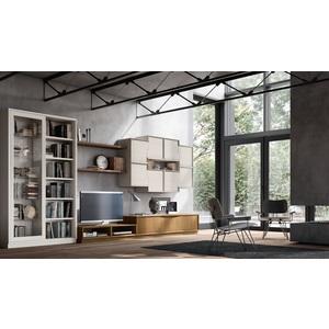 Accademia del mobile parete attrezzata, soggiorno, collezione infinity giorno, composizione 0048