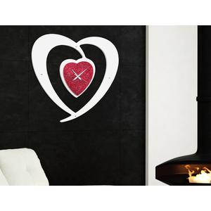 pintdecor, orologio cuore rosso