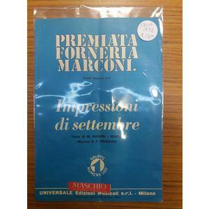 Premiata Forneria Marconi - Impressioni Di Settembre - Spartito