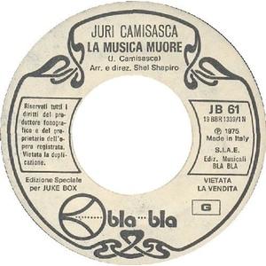 MIA MARTINI  AL MONDO - JURI CAMISASCA  LA MUSICA MUORE