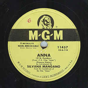 Silvana Mangano ‎– Anna / I Loved You