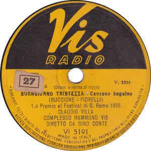 Claudio Villa – Buongiorno Tristezza / Il Torrente