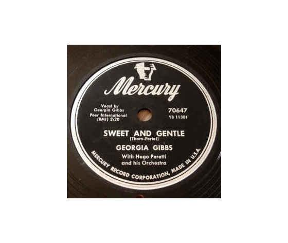 Georgia Gibbs – Sweet And Gentle / Blueberries