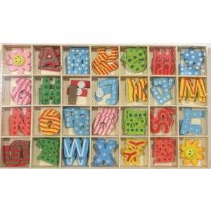 Scatola lettere legno colorate