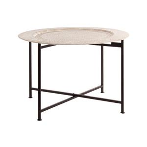 Tavolino ferro con piatto D60
