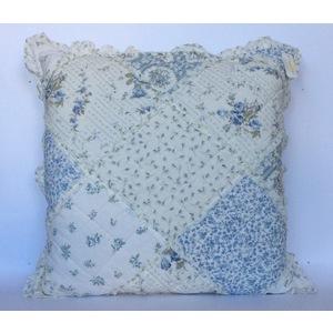 Cuscino patchwork azzurro grande C/INTERNO
