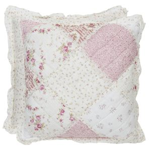 Cuscino patchwork rosa piccolo C/INTERNO