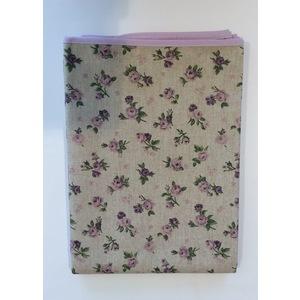 Tovaglia antimacchia in cotone fiorellino lilla 140x240