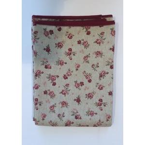Tovaglia antimacchia in cotone fiorellino rosso 140x220