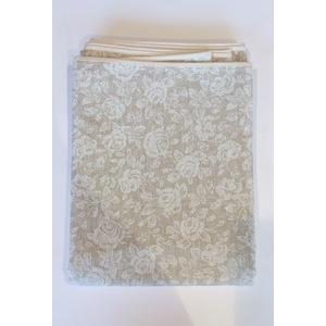 Tovaglia antimacchia in cotone fiorellino bianco 140x180