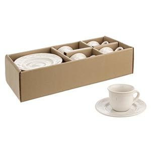 Set 4 tazzine caffè con piattino