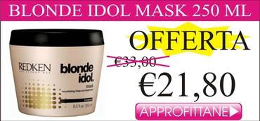 Blonde idol mask