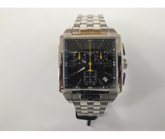 Tissot cronografo di forma quadrata in acciaio