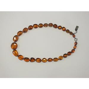 Collana ambra naturale pietre ovali