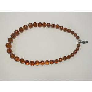 Collana ambra naturale  pietre sferiche