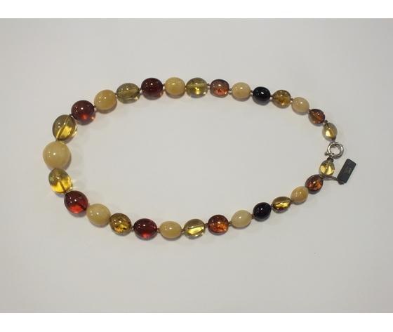 Collana ambra colorata naturale