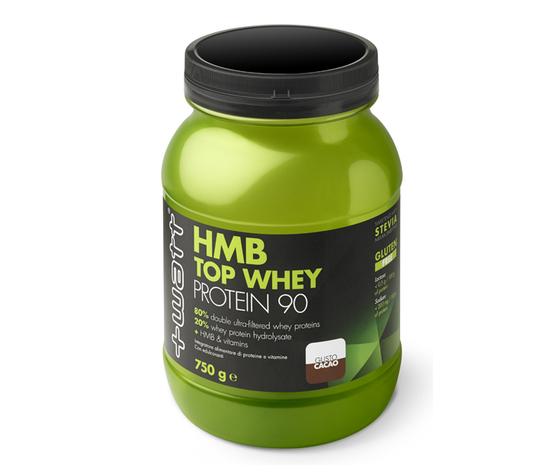+WATT HMB Top Whey Protein 90 - Proteine del siero del latte con aggiunta di vitamine e HMB 750g