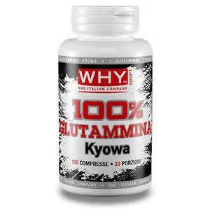 why sport 100% Glutammina Kyowa 100 compresse