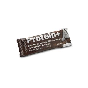 +WATT Protein+ - Barretta proteica da 40 g ricoperta di cioccolato fondente cocco
