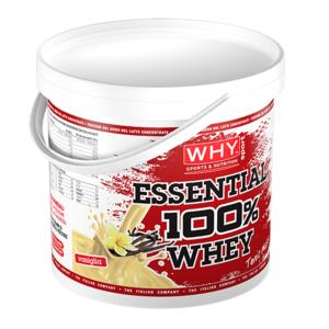why sport Essential 100% Whey 4000 4kg polvere proteine siero latte con amminoacidi essenziali cioccolato