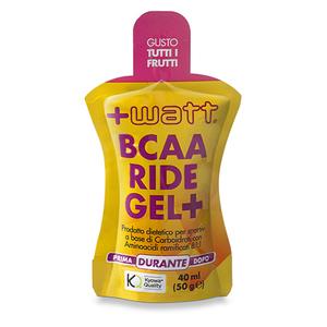 +WATT Bcaa Ride Gel+ soluzione equilibrata di carboidrati 40 ml gusto tutti i frutti