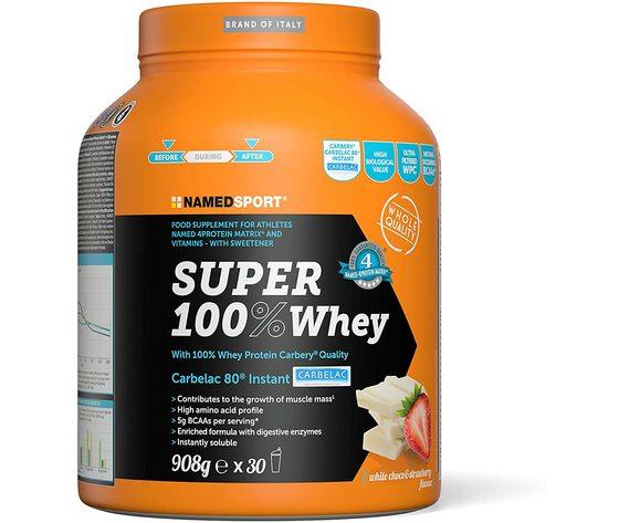 NAMEDSPORT Super 100% Whey White Choco & Strawberry - 908 Gr