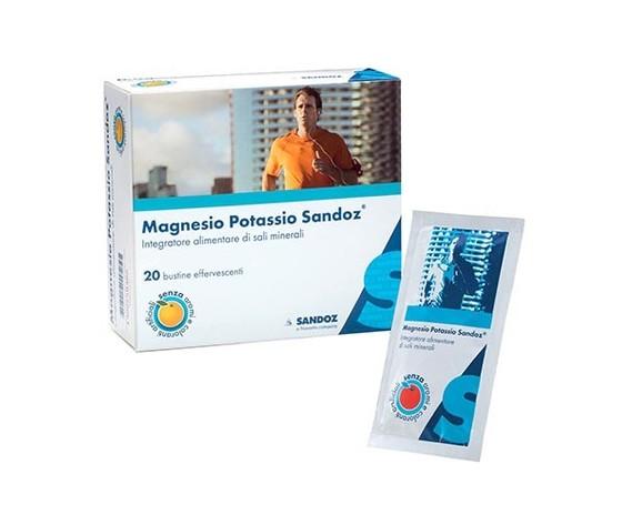 Magnesio e Potassio Sandoz - 10 buste effervescenti -  fuori tutto