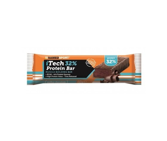 NAMED SPORT itech 32% protein bar 60g - milky chocolate