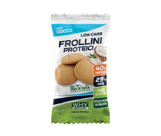 WHY NATURE low carb frollini proteici (coco) 30g