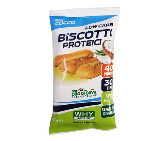 WHY NATURE low carb biscotti proteici  (cocco) 30g
